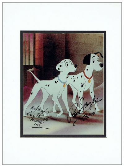 101 Dalmatians Autograph Signed Photo